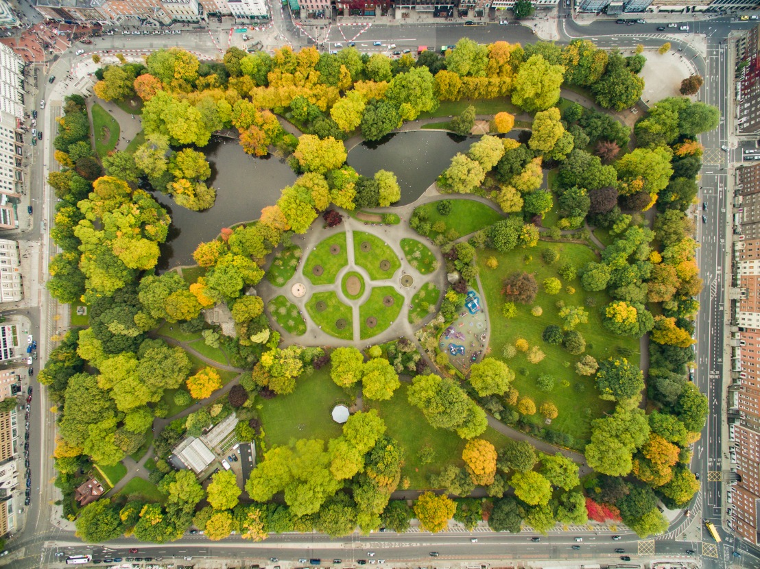 Park in Dublin St Stephen's Green aerial